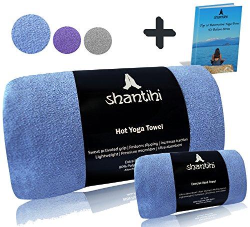 Shantihi Hot Yoga Mat Towel and Travel Gym Workout Exercise Hand Towel - Best Premium Sports Yoga...