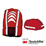 Salzmann 3M Reflective Backpack Cover, Rucksack Cover, Bag Rain Cover, High Visibility, Waterproof, Rainproof, ideal for Cycling and Running