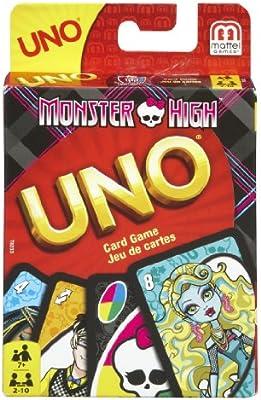 UNO T8233 - Juego de Cartas UNO con diseño de Monster High