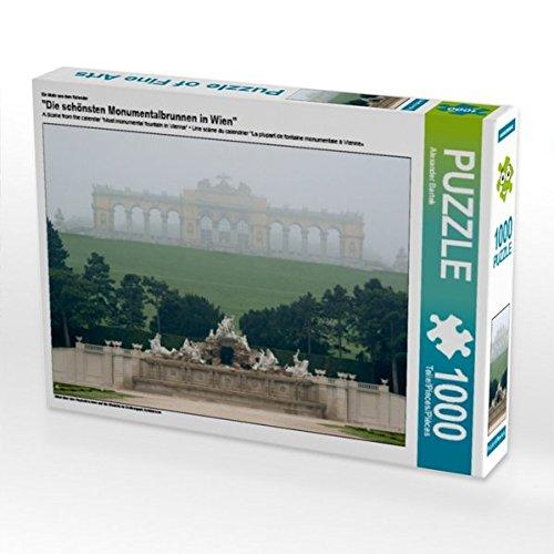 CALVENDO Puzzle Die schönsten Monumentalbrunnen in Wien 1000 Teile Lege-Größe 64 x 48 cm Foto-Puzzle Bild von Alexander Bartek B01LNQODZM Klassische Puzzles Geeignet für Farbe   Vielfalt