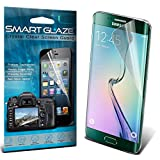 ONX3® SmartGlaze ( Pack Of 6 ) Samsung Galaxy S6 Edge Case Custom Made Crystal Clear Premium LCD Screen Protectors Packs With Polishing Cloth & Application Card