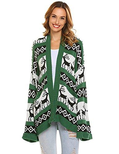 Zeagoo Ugly Christmas Sweater Women's Presents and Gifts Cardigan Sweater (Sweater Ugly Christmas Cardigan)