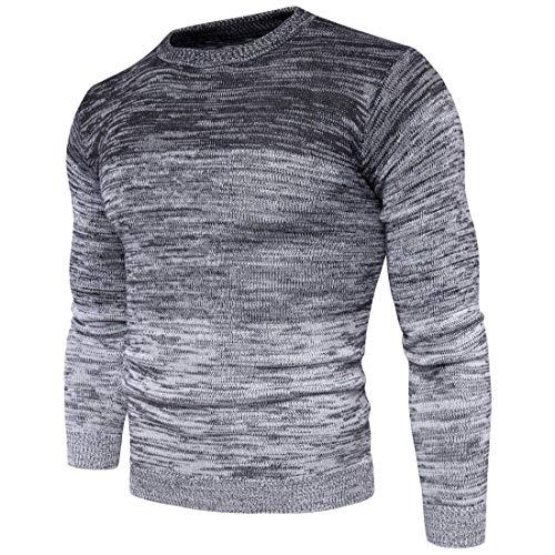 Único Otoño De Jersey Invierno De Grey Los Degradado De Punto Color BIRAN Hombres Jersey CZqwzPpT