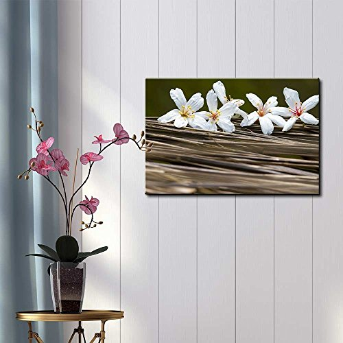 White Belladonna Flowers Over Branches