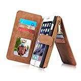 iPhone XS Max Wallet Case, INorton Synthetic Leather Slim-Fit Smart Stand Protective Magnetic Case with Credit Card Slots for iPhone XS Max