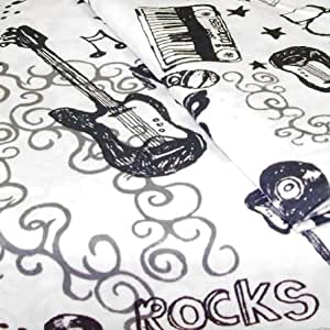 Rock N Roll Drums Guitars Twin Single Bedding Sheet Set