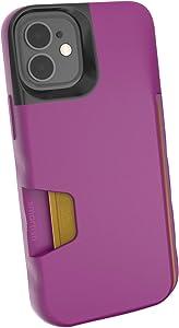 Smartish iPhone 12 Mini Wallet Case - Wallet Slayer Vol. 1 [Slim + Protective] Credit Card Holder (Silk) - Purple Reign