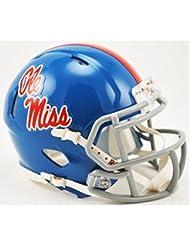 Mississippi Rebels Riddell Speed Mini Replica Powder Blue Foo...