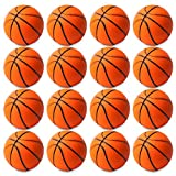 WATINC 16 Pcs 2.5Inch Basketball Squishies Soft Foam Sports Balls for Kids Sports Themed Party Favor Toys, Squeeze Balls for Stress Relief, Ball Games and Prizes, Perfect for Small Hands Stress Balls