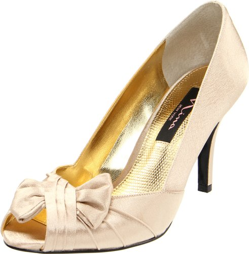 Nina Women's Forbes-Ys Peep-Toe Pump - Gold - 5.5 B(M) US