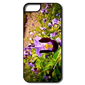 IPhone 5 Cover, Flower Cases For IPhone 5/5S - White/black Hard Plastic