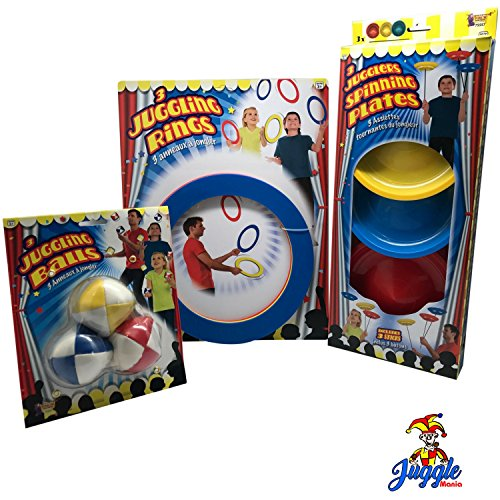Juggling Set-Intermediate-Includes Juggling Balls, Juggling Rings, and Juggling Plates by Juggle Mania