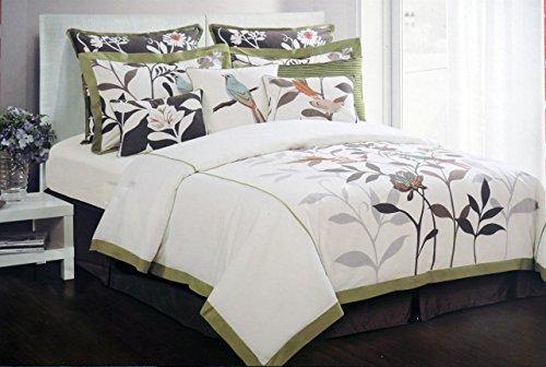 Max Studio 3 Piece King Size Cotton Duvet Cover Set Floral