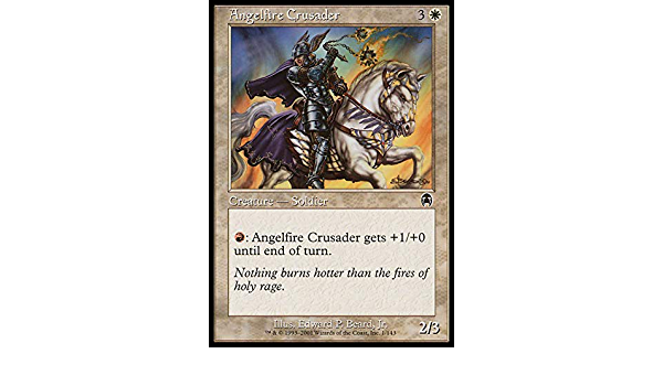 odyssey MTG Angelfire Crusader Foil Magic The Gathering