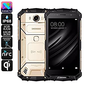 Generic HK Warehouse Preorder Doogee S60 Android Phone - QI Wireless Charging, Octa-Core, 6GB RAM, Android 7. 0, 1080p, 21MP Cam (Gold)