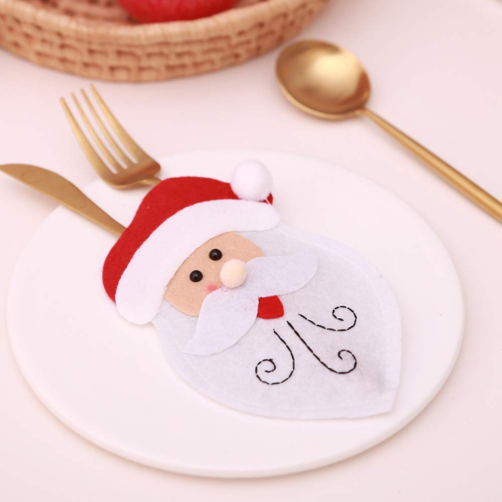 CHoppyWAVE Cutlery Pouch, Christmas Tableware Case Silverware Spoon Fork Holder Pocket Santa Dinner Decor - 3# by CHoppyWAVE (Image #4)