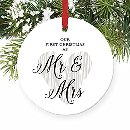 amazon com mr mrs 1st married christmas calligraphy first married