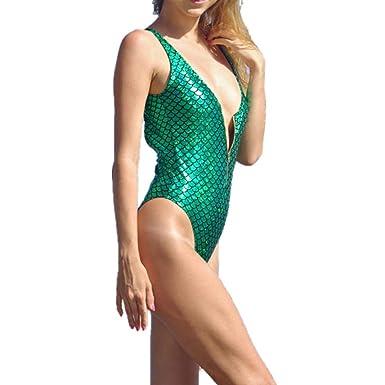 34eb337382523 Rambling 2019 New Women Mermaid Zipper Sexy Swimsuit Bikini One-Piece  Swimsuit at Amazon Women's Clothing store: