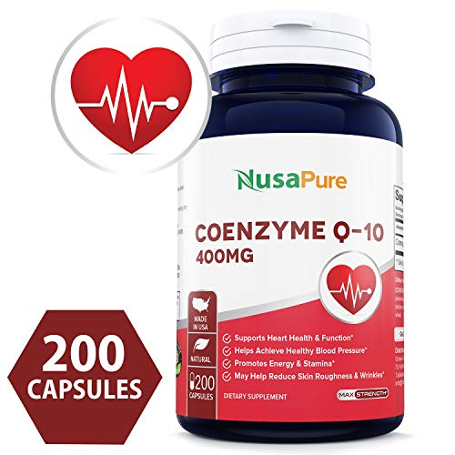 Best CoQ10 400mg 200caps (Non-GMO & Gluten Free) Coenzyme Q10 Ubiquinone Supplement Pills, Antioxidant CO Q-10 Enzyme, Coq 10 for Healthy Blood Pressure & Heart - 100% Money Back Guarantee!