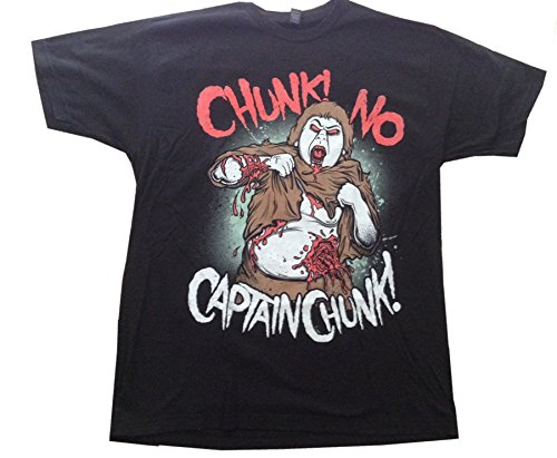 CHUNK! NO CAPTAIN CHUNK! - Chunk Shuffle - Black T-shirt - size X-Large