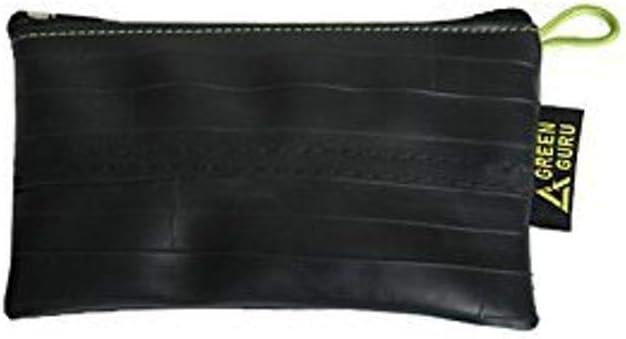 GREEN GURU Soft Fabric Liner Zippered Pouch Bag Black