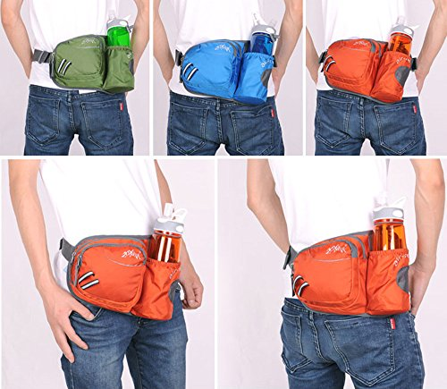 WATERFLY-Hiking-Waist-Bag-Can-Hold-iPhone6-Plus-55-inch-Gear-with-Water-Bottle-Holder-Funny-Running-Belt-Bum-Bag-for-Ridding-Dog-Walking