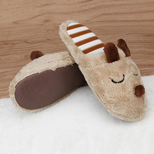 Home Men Anti Indoor Soft TM 2 Shoes slip Cotton Warm House Coffee Plush Elevin Slippers Women Couple qPSxxE