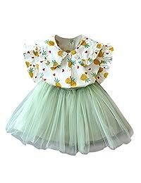 datework Toddler Kids Baby Girls Outfits Clothes Pineapple Print T-Shirt+Tutu Skirt Set