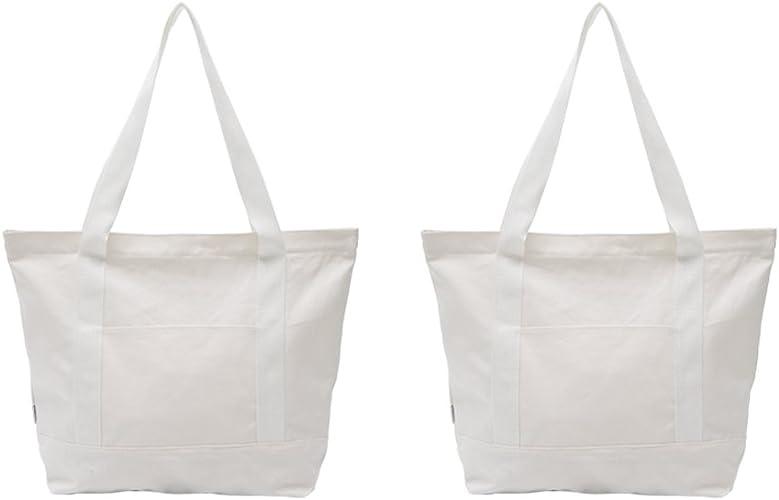 Augbunny - Bolsas de lona resistentes 100% algodón con cremallera ...