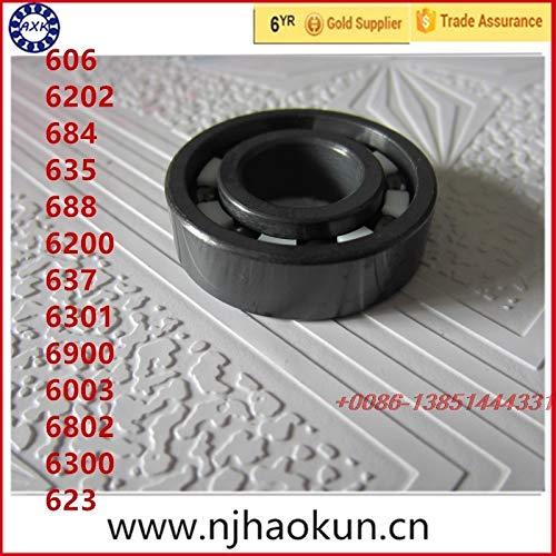 Ochoos Real Rodamientos 1pcs606 6202 684 635 688 6200 637 6301 6900 6003 6802 6300 623 Full Si3n4 Ceramic Bearing - (Length: 6900)
