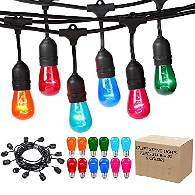 Areful String Lights, Patio Weatherproof Light Connectable, Remote Control, RGB Color Changing Mood Lighting