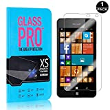 Nokia Microsoft Lumia 650 Tempered Glass Screen Protector, Bear Village® 9H Scratch Resistant HD Screen Protector Film for Nokia Microsoft Lumia 650-1 PACK