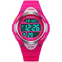 Kids LED Digital Unusual Sports Outdoor Children's Wrist Dress Waterproof Watch with Silicone Band, Alarm, Stopwatch...