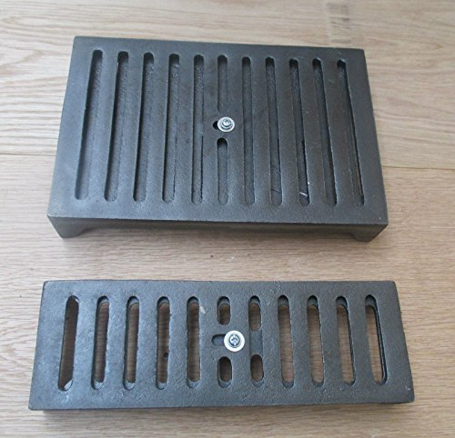 IRONMONGERY WORLD CAST IRON AIR BRICK WITH SLIDING VENT COVER REPRO -GRILL AIR VENT VENTILLATION - OLD VINTAGE VICTORIAN PATTERN (LARGE - 9 X 6) by Ironmongery World by Ironmongery World