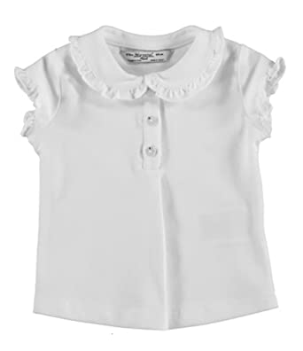 ea940cb74 Amazon.com: Mayoral White Ruffled Polo Shirt: Clothing