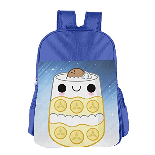 Ongshuquwe Cute Food Leisure Children Cute Cartoon Schoolbag RoyalBlue