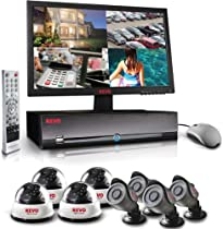 16 Channel Video Security System with DVR and 24IR Cameras