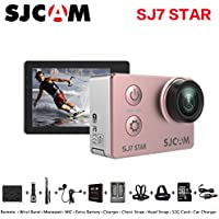 Sport Action Camera, Newest Original SJCAM SJ7 Star 1080P 4K Action Cam Waterproof Sport Video Camera with Mounting Accessories, Rose Gold