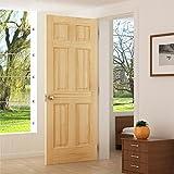 6-panel door Interior Slab, Solid Pine (30x80)