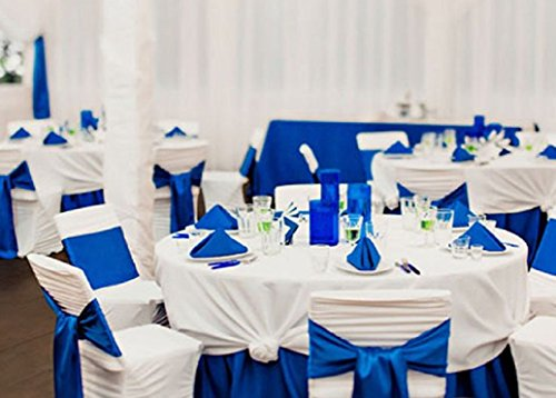 SPRINGROSE 50 Royal Blue Wedding Satin Chair Sashes. These Are a Wonderful Decoration for Your Chairs. Be Sure and Add Them to Your List of Party Supplies.