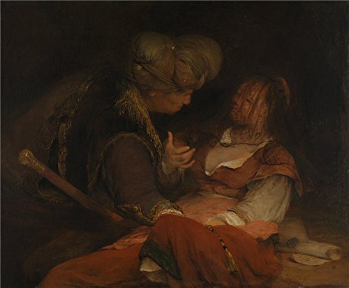 Lady Old Costume Missing Dog (Oil Painting 'Aert De Gelder Judah And Tamar ' Printing On Perfect Effect Canvas , 24 X 29 Inch / 61 X 74 Cm ,the Best Home Office Artwork And)