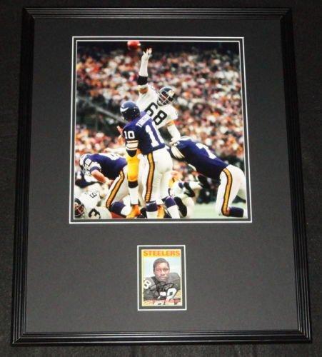 LC Greenwood Signed Framed 16x20 Photo Display JSA Steelers Steel ()