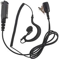 KENMAX G shape Headset Earpiece with In-line PTT Microphone for Walkie Talkie Sepura Radio STP8000 STP9000