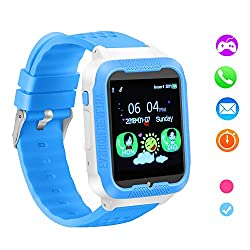 Kids Smart Watch Phone,Game Phone Watch for Boys Girls,Camera Touchscreen Alarm Clock Watch,Kids Cell Phone Watch with SIM and SD Slot, Children Festival Birthday Great Gift. (Blue)