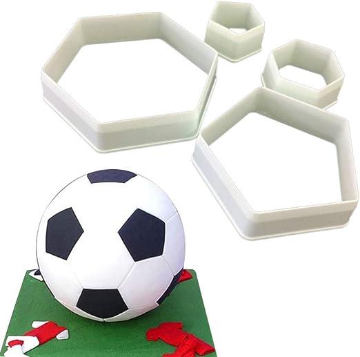 OSAYES 4pcs Football Soccer Futbol DIY Fondant cortadores moldes ...