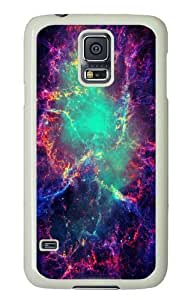 Cave Nebula PC Case Cover for Samsung S5 and Samsung Galaxy S5 White
