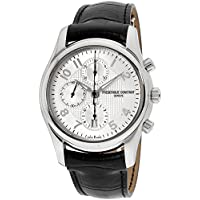 Frederique Constant FC-392RM6B6 Leather Mens Watch - Silver Dial