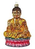 Seated Buddha Chakra Zen Polish Glass Christmas Ornament Souvenir Decoration