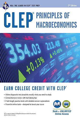 CLEP® Principles of Macroeconomics Book + Online (CLEP Test Preparation)