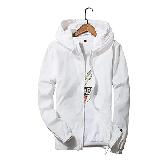 37891f84202 Sunisery Men s Women Casual Hooded Jacket Windbreaker Embroidery Rose  Spring Fall Streetwear College Style (Tag XL US M